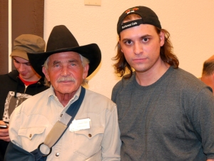 "Me and Bob Gimlin, the ""Gimlin"" in Patterson-Gimlin.  Not pertinent or anything.  Just name dropping."