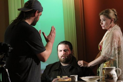 Tyler pretends to be a director, fooling both Stephan Meyer and Lynn Lowry.  It's the hand gestures and the beard.