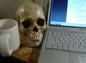 Sometimes, I talk to the Skull and complain to him about Tyler. The Skull is the only one that understands.