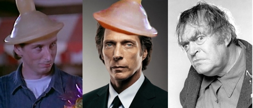 The 3 Faces of Tom the Meth Addicted Perverted Gun-toting Bastard.  From left to right, William Fichtner, Steve Grothaus,  and Jack Elam.